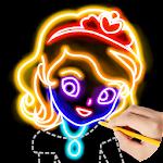 Draw Glow Princess