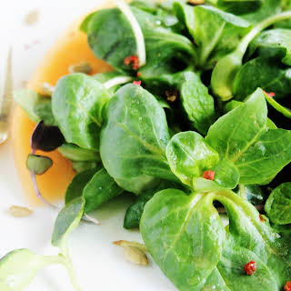 Mache & Microgreens with Spicy Melon Dressing.