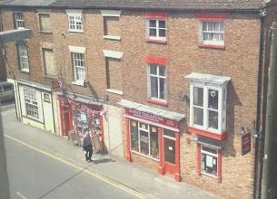 Photo: Looking down on North St, the Kings Treasure licensed restaurant, with Horncastle Hobby House nextdoor, and previously Good4books on the corner (of Conging St).