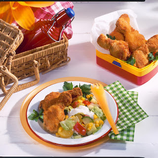 Oven-Fried Chicken With Potato Side Salad.
