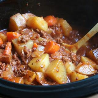 Slow Cooker Poor Man's Stew.