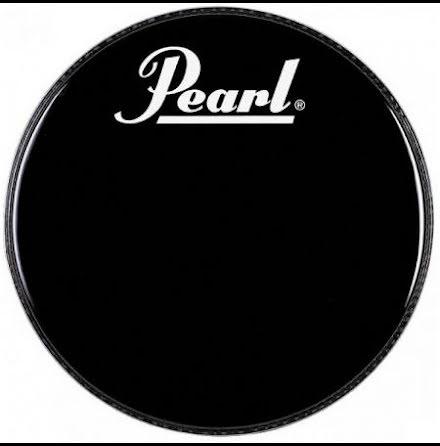 Pearl Frontskinn utan hål - Svart med vit logga