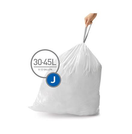 Avfallspåsar till Simplehuman 3 x pack med 20 påsar(60-påsar)  TYP J