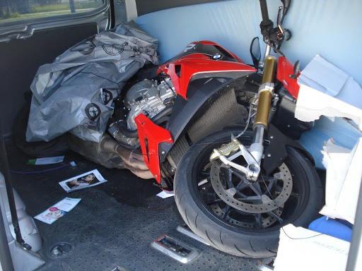 In Berlin gestohlenes Motorrad