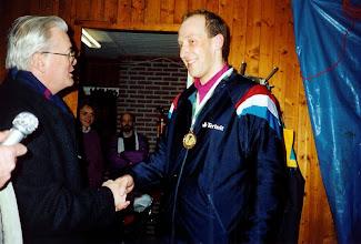 Photo: Jan v/d Meijden werd Kampioen eerste kortebaanwedstrijd 1991