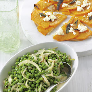 Parmesan Peas with Sage and Squash Chapatis.