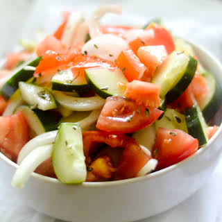 Simple Cucumber Salad.