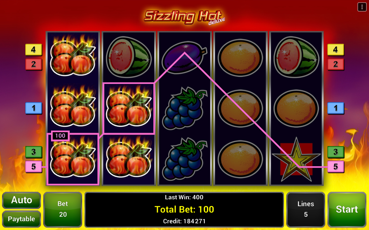 sizzling hot deluxe slot android