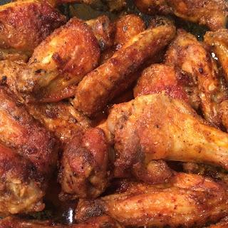 Dry Rub Fall Off the Bone Chicken Wings.