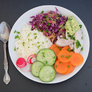 Tasty Resistant Starch Rice Red Cabbage and Pumpkin Seeds Salad Abundance Bowl.