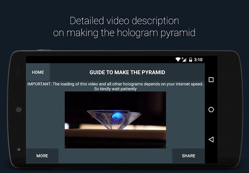 ホログラム3D-PhoneピラミッドDIY