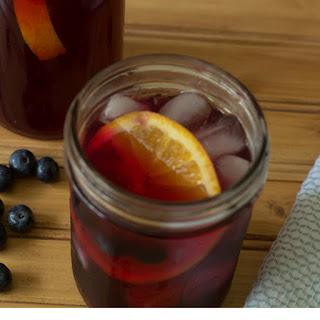Detox Blueberry Lemon Ginger Iced Tea.
