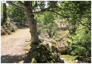 """Photo: Pasamos al lado del mal llamado: """" Pozo del alemán """" (1065 m), ya que el verdadero, se encuentra en las aguas del río Redimuña, un poquito más arriba. Al frente el puente Redimuña. Por su parte alta, las aguas del río del mismo nombre. Estas más próximas ya corresponde a las que transporta el río Pomperi."""