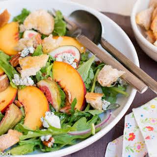 Peach, Fig, & Arugula Salad.