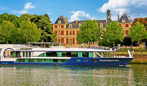 Avalon-Creativity-exterior-1 - Avalon Creativity sailing the Seine River near Elbeuf, France.