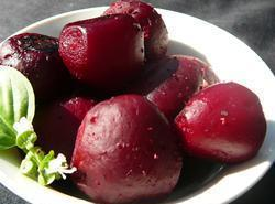 Heat oven to 350^. Wash beets  real good, leaving the skins on ,...