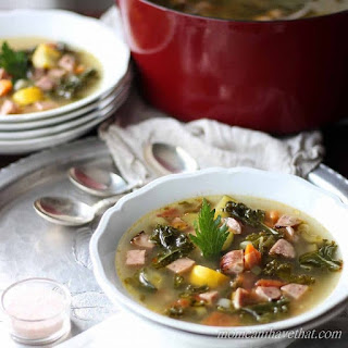 Low Carb Chicken Sausage and Kale Soup Paleo.