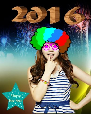android New Year Funny Face Editor Screenshot 0