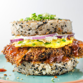 Chicken Katsu Sushi Burger.