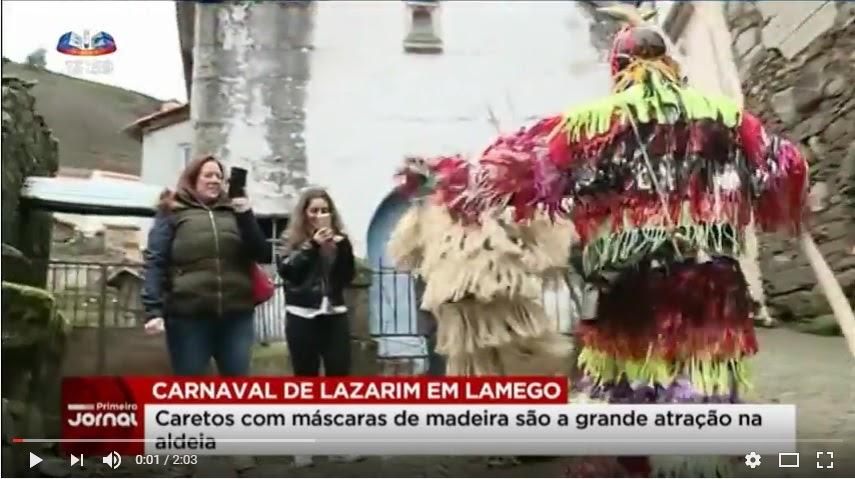 Vídeo - Caretos saem às ruas de Lazarim em Lamego