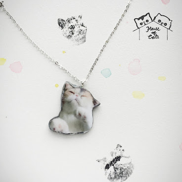 Sleepy Jojo marble 935 silver necklace