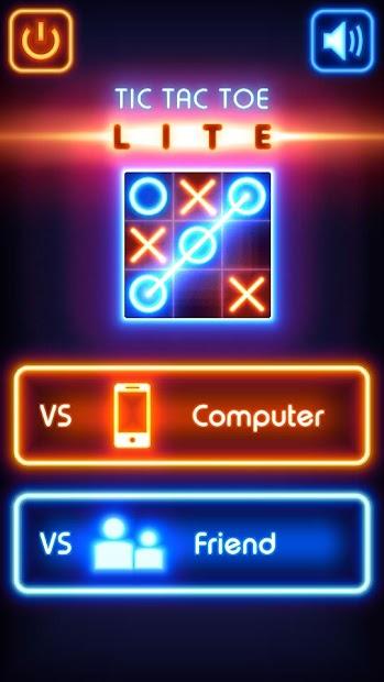 Tic Tac Toe glow - Free Puzzle Game Android App Screenshot