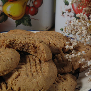 Peanut Butter Cookies; Sugar and Gluten Free!