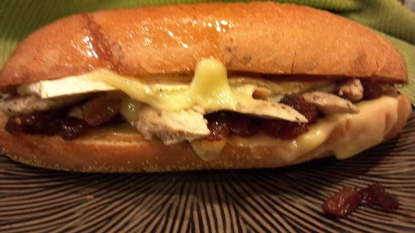 Split the hoagie rolls, slather with garlic butter and add the cheese.  Toast...