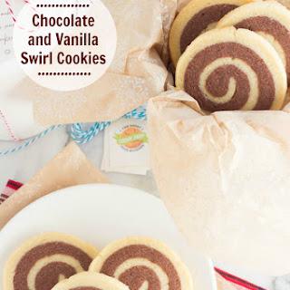 Chocolate and Vanilla Swirl Cookies
