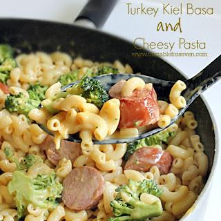 Turkey Kielbasa and Cheesy Pasta