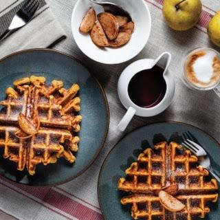 Protein-Packed Pumpkin Pie Waffles.