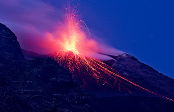Photo: Time is flying! Can't believe this one is number 100 in my Beautiful Places album. Time to celebrate then! It doesn't get much better then fireworks and this one is positively the most beautiful I've seen. It is a sequel to my previous image. I spent about 3 hours photographing this magnificent volcano and this image is the last one from the night. It took a while to tweak the composition which was not very easy as it was completely dark and every eruption was different. Plus you cannot really refocus so changing lenses is not an option. But fortunately it erupts every 20-30 minutes! Enjoy, share and have a great Sunday!  #DawnOnSunday #SunriseSaturday #ColorsOnSaturday #PlusPhotoExtract #photography #potd #BreakfastClub #breakfastartclub #FineArtPls #SacredSunday