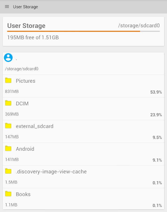 Storage Space- screenshot