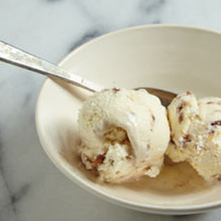 Cheesecake Ice Cream with Crumbled Macaroons.