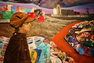 Photo: Antonio Berni Juanito Laguna going to the Factory [Juanito Laguna yendo a la fábrica] -detalle- 1977. Colección Jozami, Buenos Aires. Expo: Antonio Berni. Juanito y Ramona (MALBA 2014-2015)