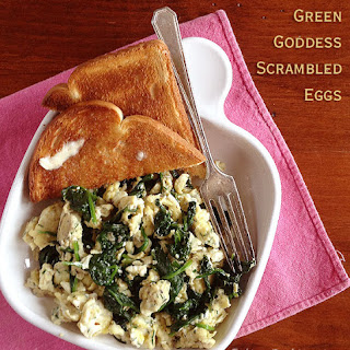 Green Goddess Scrambled Eggs