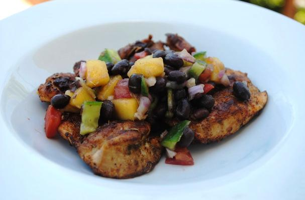 Spiced Chicken with Black Bean and Mango Salsa Recipe