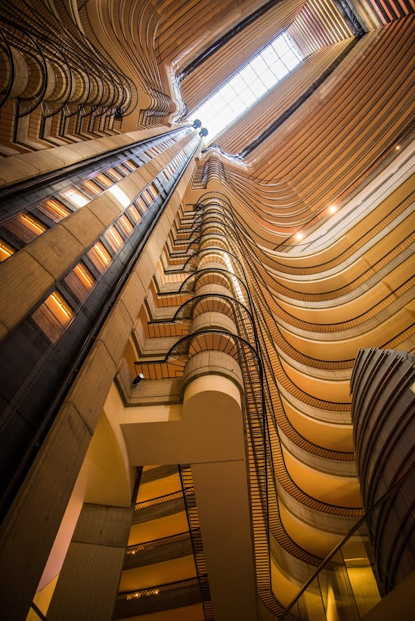 Layers by Mark Halliday - Buildings & Architecture Office Buildings & Hotels ( elevator, hotel, architecture, curves, marriot,  )