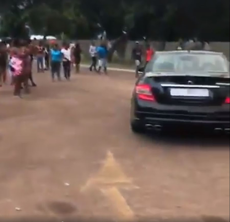A child arrived at school in a Merceds Benz.