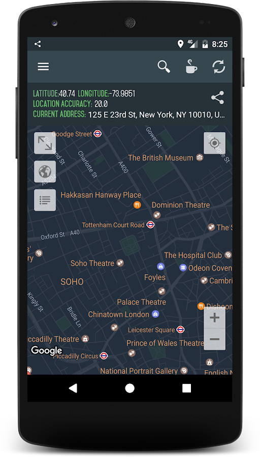 how to change your location on android