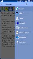 Screenshot of VLk Text Editor