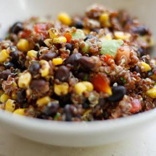 Red Quinoa Salad with Corn, Avocado and Black Beans Recipe