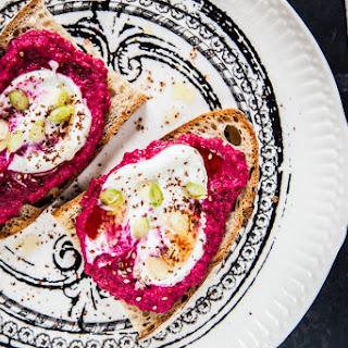 Sourdough Toast with Beet & Yogurt Spread