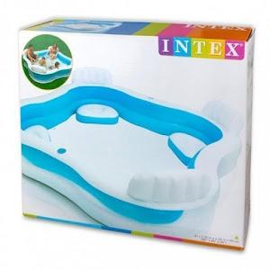 Piscina gonflabila iNTEX cu 4 locuri si 2 suporti pentru pahare