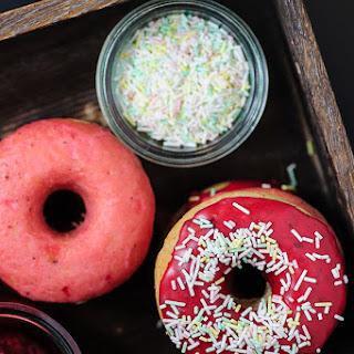 Doughnuts with Berry Glaze.