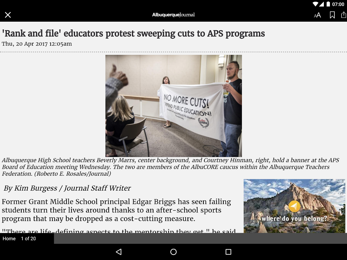 Albuquerque Journal Newspaper- screenshot