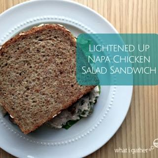 Lightened Up Napa Chicken Salad Sandwich