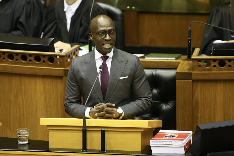 Finance Minister Malusi Gigaba delivers his 2018 budget speech in Parliament on February 21 2018. Picture: ESA ALEXANDER