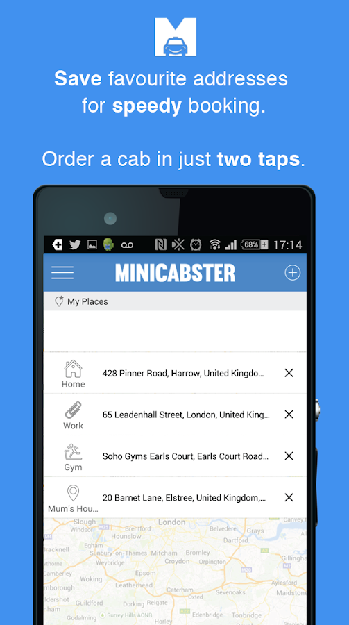 Minicabster - Book a Minicab- screenshot