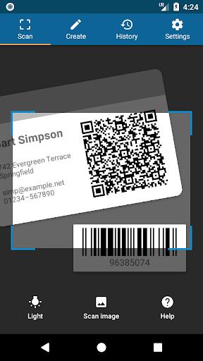 QRbot: QR code reader and barcode reader  screenshots 1